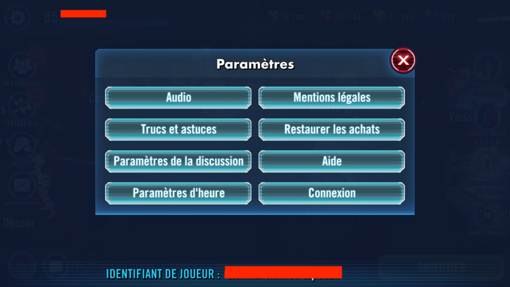 Transférer son application Star Wars: Les héros de la Galaxie Iphone vers Android - Etape 1