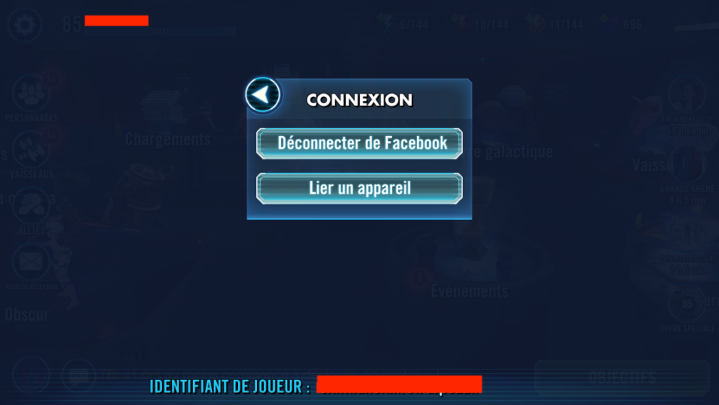 Transférer son application Star Wars: Les héros de la Galaxie Iphone vers Android - Etape 2